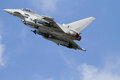 Raf typhoon at airshow Royalty Free Stock Photos