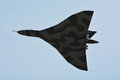 Raf vulcan aircraft on an air show Royalty Free Stock Photography