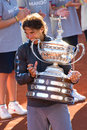 Rafael Nadal wins Conde de Godo Royalty Free Stock Photography