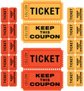 Raffle tickets Royalty Free Stock Photography