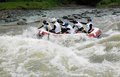 Rafting in indonesia the stream of progo river kulonprogo yogyakarta java Royalty Free Stock Images