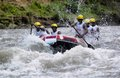 Rafting in indonesia the stream of progo river kulonprogo yogyakarta java Stock Photo