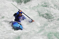 Rafting kayaking extreme sport water fun splashing the white as and Royalty Free Stock Photo