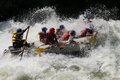 Rafting on a river Royalty Free Stock Photo