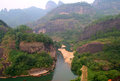 Rafting on the river of nine bends wuyishan china Royalty Free Stock Photography