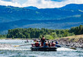 Rafting the Snake River in  Jackson Hole, Wyoming Royalty Free Stock Photo