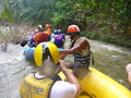 Rafting in thailand the province of phang nga is famous for jungle safaris and water tours Stock Photography