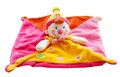 Rag doll clown toy isolated on white background Royalty Free Stock Photo
