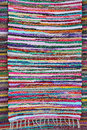 Rag rug hand knotted wool carpet Royalty Free Stock Images