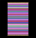 Rag rug illustration of a isolated vector on black background Stock Photos