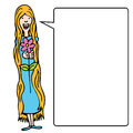 Ragazza dai capelli lunghi con il fiore Fotografia Stock Libera da Diritti
