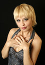 Ragazza del blonde di sorriso Fotografia Stock Libera da Diritti