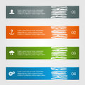 Ragged infographics ifographic lines with icons modern design numbered banners can be used for design of website illustration Royalty Free Stock Photo
