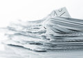 Ragged paper sheets pile of closeup picture Stock Photo