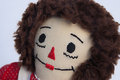 Raggedy ann doll face closeup of dolls Royalty Free Stock Photo