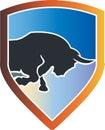 Raging bull Royalty Free Stock Photo