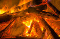 Raging fire a shot of a bonfire Royalty Free Stock Image