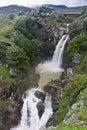 Raging waterfall saar at the golan heights israel Stock Images