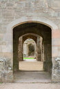 Raglan castle doorways Royalty Free Stock Photo