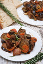 Ragout with eggplant Stock Photos