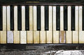 Ragtime vintage piano keys showing a lot of old character Stock Photography