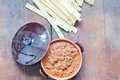 Ragu bolognese in a clay pot italy Royalty Free Stock Image