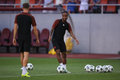 Raheem sterling shaquille player of manchester city pictured during the official training before the uefa champions league match Stock Photo