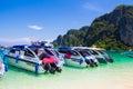 Rai lay beach krabi thailand mahya bay maya bay Royalty Free Stock Photo