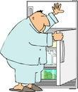 Raid the refrigerator Royalty Free Stock Photo