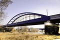 Rail bridge over the river Elbe Royalty Free Stock Photography