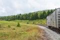 Rail car railroad in the hills spruce knob seneca rocks national recreation area cass west virginia Stock Photo
