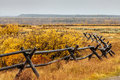 Rail Fence and Fall Colors Royalty Free Stock Photo