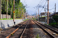Rail road in Japan Royalty Free Stock Image