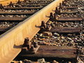 Rail Road Tracks Stock Photography