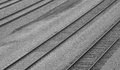 Rail study parallel tracks create an interesting view Stock Photos