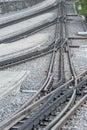 Rail track train platform and Stock Photo