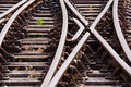 Rail Tracks Royalty Free Stock Photos