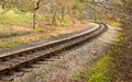 Rail Tracks S Curve Royalty Free Stock Photo