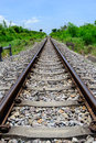 Rail way a still runing located in thailand Royalty Free Stock Photo