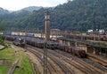 Rail yard in paranapiacaba brazil Stock Photo