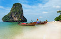 Railay beach in Krabi at morning Stock Image