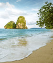 Railay beach in Krabi province, Thailand Royalty Free Stock Photo