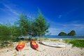 Railay beach in krabi thailand Stock Photography