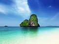 Railay beach in krabi thailand Stock Images