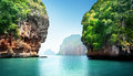 Railay beach in krabi thailand Royalty Free Stock Image
