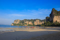 Railay beach thailand in krabi province Stock Photo