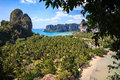 Railay beach from viewpoint krabi province thailand Royalty Free Stock Photography