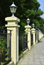 Railing With Street Lamps