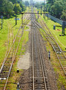 Railroad branching Royalty Free Stock Photos