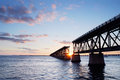Railroad bridge at Bahia Honda State Park  Stock Image
